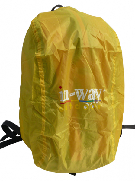 袋底設有拉鏈袋,内有防雨罩。